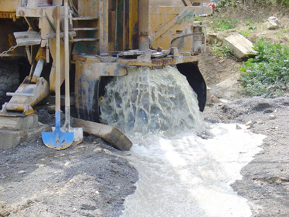 forage eau machine